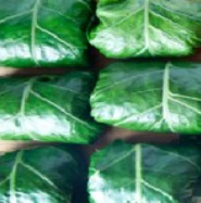 healthy collard leaf dinner